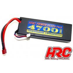 HRC02247D Accu - LiPo 2S - 7.4V 4700mAh 40C - RC Car - HRC 4700 - Prise Hard Case - Ultra T