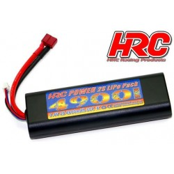 HRC02249RD Accu - LiPo 2S - 7.4V 4900mAh 30C - RC Car - HRC 4900 - Rounded Hard Case - Prise Ultra T