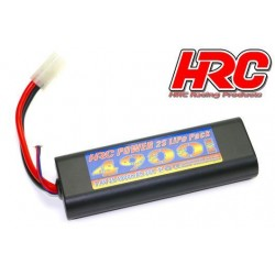 HRC02249RT Accu - LiPo 2S - 7.4V 4900mAh 30C - RC Car - HRC 4900 - Rounded Hard Case - Prise Tamiya