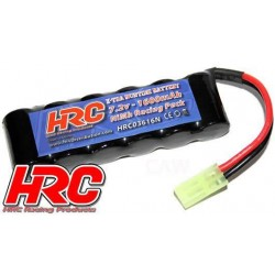 HRC03616N Accu - 6 Eléments - HRC 1600 - RC Car Micro - NiMH - 7.2V 1600mAh - prise Mini Tamiya side by side