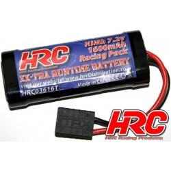HRC03616T Accu - 6 Eléments - HRC 1600 - RC Car Micro - NiMH - 7.2V 1600mAh - prise TRX