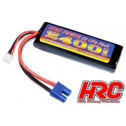 HRC04224E Accu - LiPo 2S - 7.4V 2400mAh 50C - RC Car Micro - HRC Power 2400 - Prise EC3