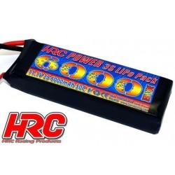 HRC04360X Accu - LiPo 3S - 11.1V 6000mAh 50C/100C - HRC 6000 - Prise XT90