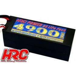 HRC04649D Accu - LiPo 6S - 22.2V 4900mAh 60C/110C - Hard Case - HRC 4900 - Prise Ultra-T