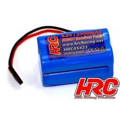 HRC05423S Accu - 4 Eléments - HRC 2300 - Accu récepteur - 4.8V 2300mAh NiMH- bloc - prise JR