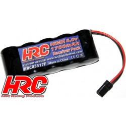 HRC05517F Accu - 5 Eléments - HRC 1700 - Accu récepteur - NiMH - 6V 1700mAh - plat - prise UNI