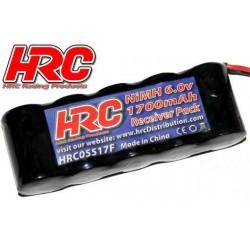 HRC05517FB Accu - 5 Eléments - HRC 1700 - Accu récepteur - NiMH - 6V 1700mAh - plat - prise BEC