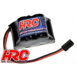 HRC05517H Accu - 5 Eléments - HRC 1700 - Accu récepteur - NiMH - 6V 1700mAh - pyramide - prise UNI