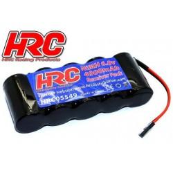 HRC05549F Accu - 5 Eléments - Accu récepteur - 6V 4900mAh Sub-C - plat - prise UNI