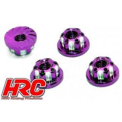 HRC1053PU Ecrous de roues - TSW Pro Racing - M4 strié flasqué - Aluminium - Purple (4 pces)