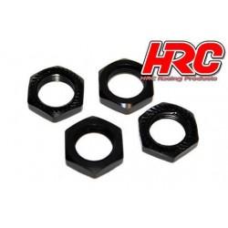 HRC1057BK Ecroux de roues 1/8 - TSW Pro Racing - 17mm x 1.25 - strié flasqué - Noir (4 pces)