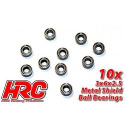 HRC1200 Roulements à billes – métrique - 3x 6x2.5mm (10 Pces)