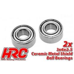 HRC1200CA Roulements à billes - métrique - 3x 6x2.5mm - TSW Pro Racing – céramique (2 pces)