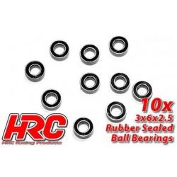 HRC1200RS Roulements à billes - métrique - 3x 6x2.5mm étanche (10 pces)
