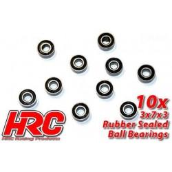 HRC1204RS Roulements à billes – métrique - 3x 7x3mm étanche (10 pces)