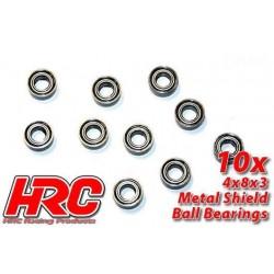 HRC1208 Roulements à billes – métrique - 4x 8x3mm (10 Pces)
