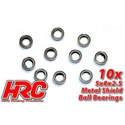 HRC1212 Roulements à billes – métrique - 5x 8x2.5mm (10 pces)