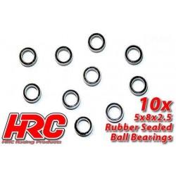 HRC1212RS Roulements à billes – métrique - 5x 8x2.5mm étanche (10 pces)