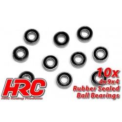 HRC1216RS Roulements à billes – métrique - 4x 9x4mm étanche (10 pces)