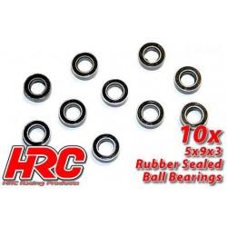 HRC1220RS Roulements à billes – métrique - 5x 9x3mm étanche (10 pces)