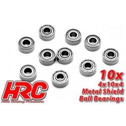 HRC1222 Roulements à billes – métrique - 4x10x4mm (10 pces)
