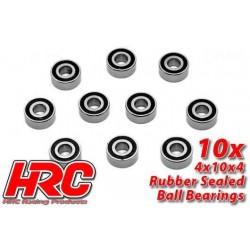 HRC1222RS Roulements à billes – métrique - 4x10x4mm étanche (10 pces)