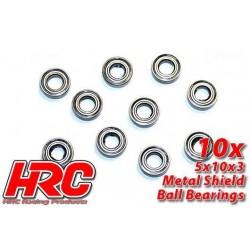 HRC1224 Roulements à billes – métrique - 5x10x3mm (10 pces)