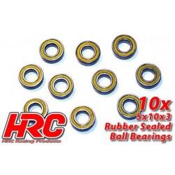 HRC1224RS Roulements à billes - métrique - 5x10x3mm étanche (10 pces)