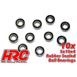 HRC1228RS Roulements à billes – métrique - 5x10x4mm étanche (10 pces)
