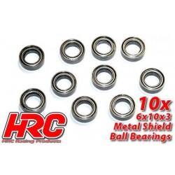 HRC1236 Roulements à billes – métrique - 6x10x3mm (10 Pces)