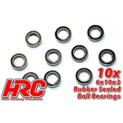 HRC1236RS Roulements à billes – métrique - 6x10x3mm étanche (10 pces)