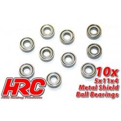 HRC1240 Roulements à billes – métrique - 5x11x4mm (10 pces)