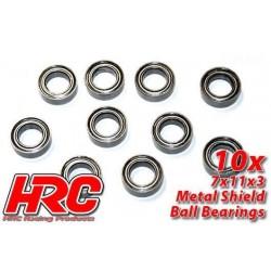 HRC1242 Roulements à billes – métrique - 7x11x3mm (10 pces)