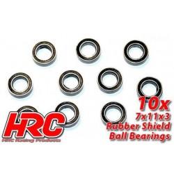 HRC1242RS Roulements à billes – métrique - 7x11x3mm étanche (10 pces)