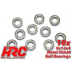 HRC1244 Roulements à billes – métrique - 6x12x4mm (10 pces)