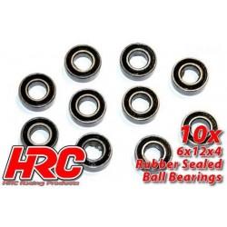 HRC1244RS Roulements à billes – métrique - 6x12x4mm étanche (10 pces)