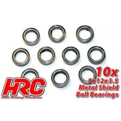 HRC1248 Roulements à billes – métrique - 8x12x3.5mm (10 pces)