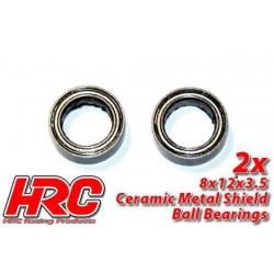 HRC1248CA Roulements à billes - métrique - 8x12x3.5mm - TSW Pro Racing – céramique (2 pces)