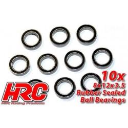 HRC1248RS Roulements à billes – métrique - 8x12x3.5mm étanche (10 pces)
