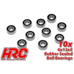 HRC1252RS Roulements à billes – métrique - 6x13x5mm étanche (10 pces)