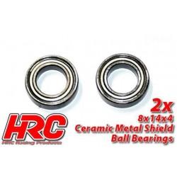 HRC1256CA Roulements à billes - métrique - 8x14x4mm - TSW Pro Racing – céramique (2 pces)