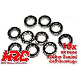 HRC1256RS Roulements à billes – métrique - 8x14x4mm étanche (10 pces)