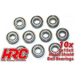 HRC1260 Roulements à billes – métrique - 6x15x5mm (10 pces)