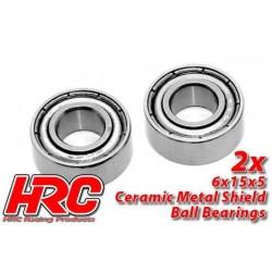 HRC1260CA Roulements à billes - métrique - 6x15x5mm - TSW Pro Racing – céramique (2 pces)