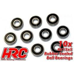 HRC1260RS Roulements à billes – métrique - 6x15x5mm étanche (10 pces)