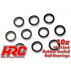 HRC1264RS Roulements à billes – métrique - 10x15x4mm étanche (10 pces)