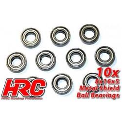 HRC1272 Roulements à billes - métrique - 5x16x5mm - TSW Pro Racing – céramique (2 pces) (moteurs brushless 1:8)