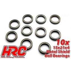 HRC1284 Roulements à billes – métrique - 15x21x4mm (10 pces)