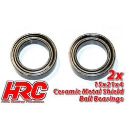 HRC1284CA Roulements à billes – métrique - 15x21x4mm - TSW Pro Racing – céramique (2 pces)