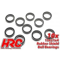 HRC1284RS Roulements à billes – métrique - 15x21x4mm étanche (10 pces)